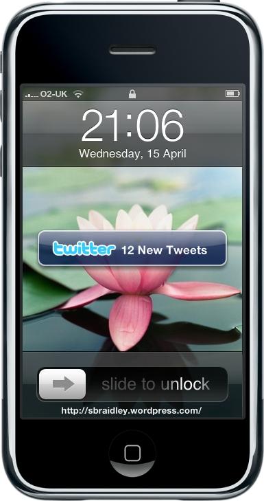 Twitter iPhone Mockup 2