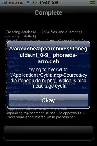 Cydia Error
