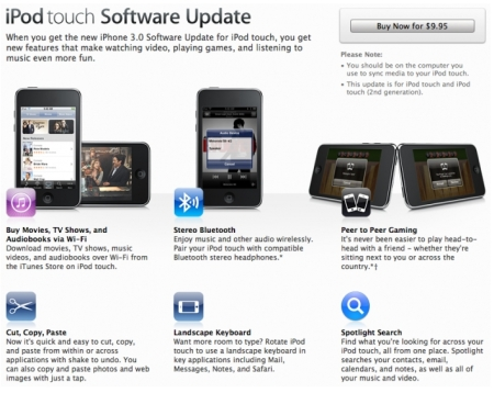 iPod Touch OS 3.0 Update